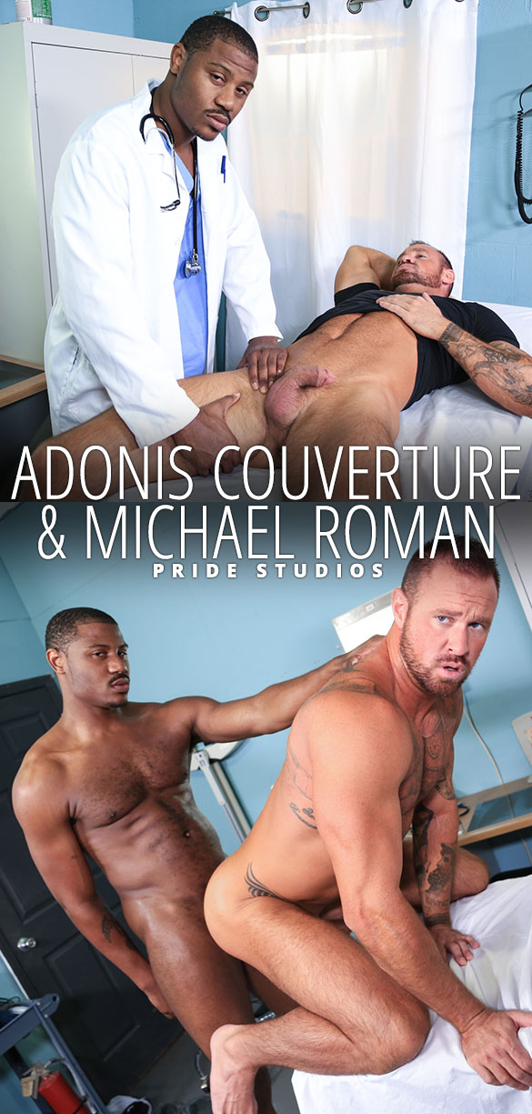 "Pride Studios: Adonis Couverture fucks Michael Roman in ""Wow Doc!"""