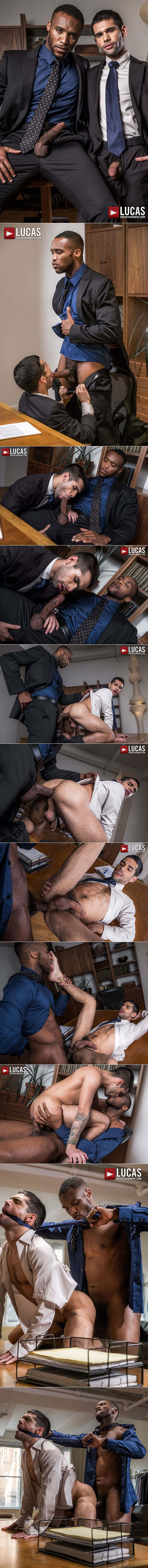 """Lucas Entertainment: Ty Mitchell bottoms for big-dicked Andre Donovan in """"Gentlemen 21: Top Management"""""""