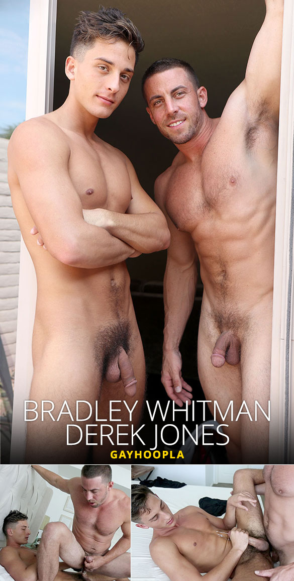 GayHoopla: Bradley Whitman gets his ass cherry popped in a hot flip-fuck with Derek Jones