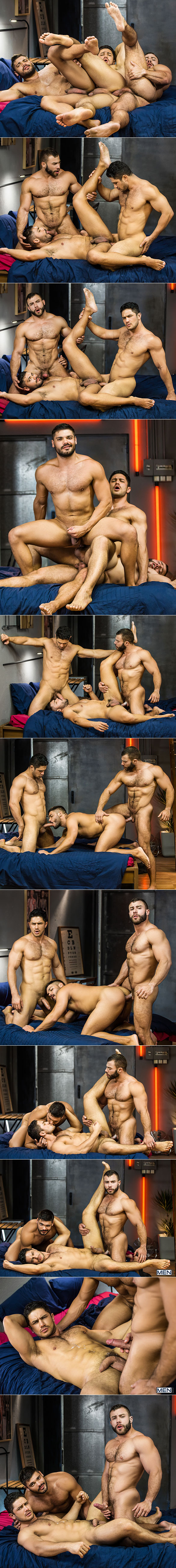 "Men.com: Dato Foland, Diego Reyes and Nicolas Brooks' threesome in ""The Boy Is Mine, Part 3"""