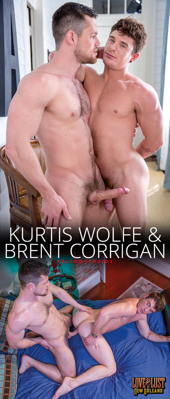 "Falcon Studios: Kurtis Wolfe fucks Brent Corrigan in ""Love & Lust in New Orleans"""
