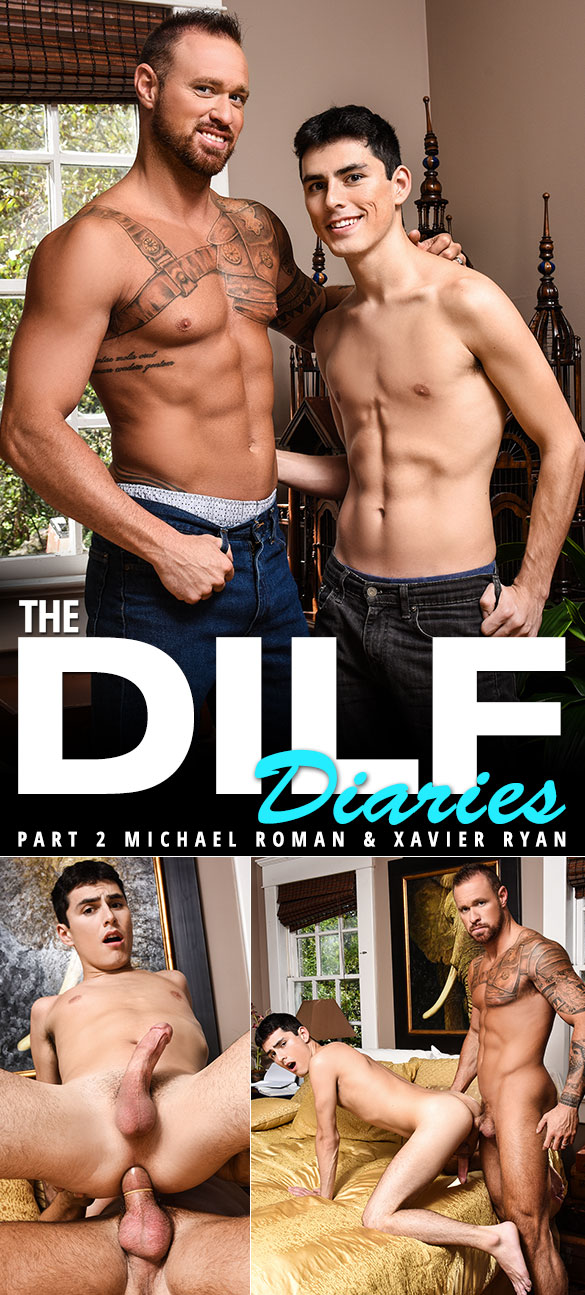 "Men.com: Michael Roman bangs Xavier Ryan in ""The DILF Diaries, Part 2"""