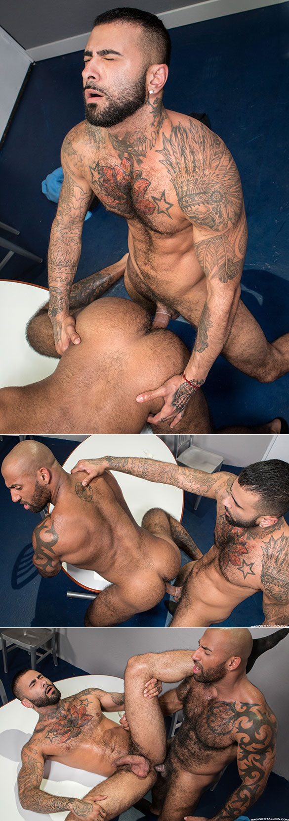 "Raging Stallion: Rikk York and Daymin Voss flip fuck in ""TSA Checkpoint"""