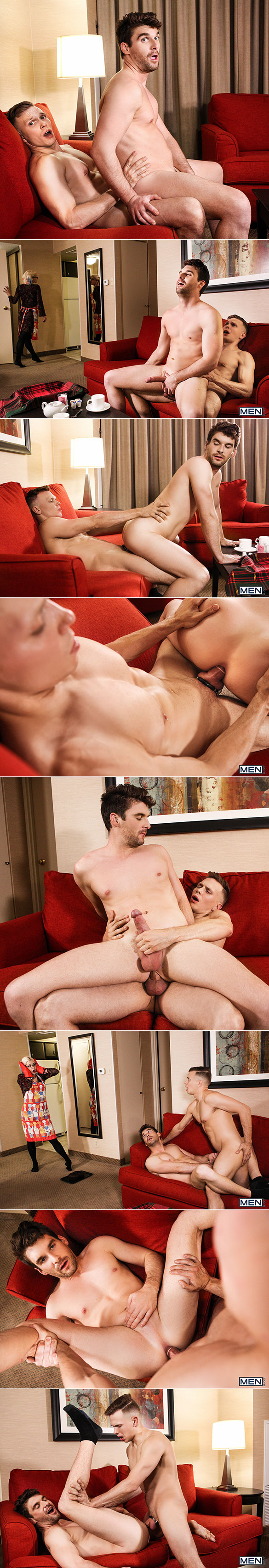 """Men.com: Ethan Chase fucks Dustin Holloway in """"Welcome to the Building"""""""