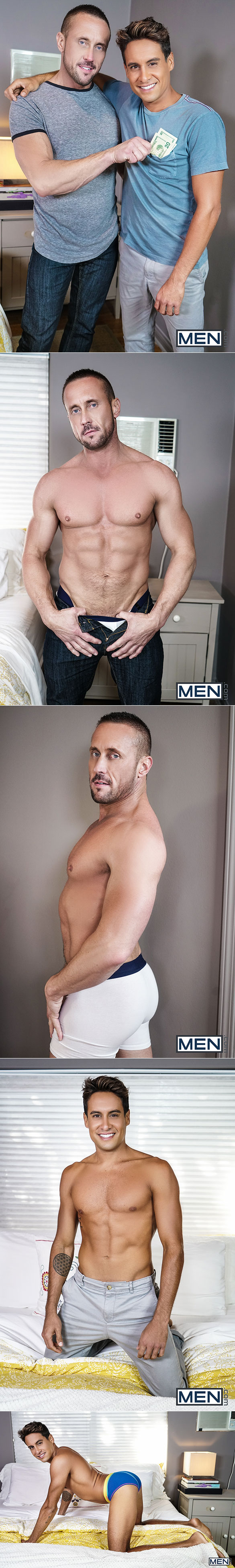 """Men.com: Titus takes Myles Landon's thick cock in """"Hide the Hooker"""""""