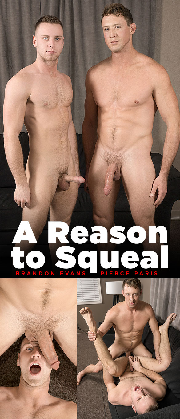 "Bromo: Big-dicked Pierce Paris pounds Brandon Evans raw in ""A Reason to Squeal"""