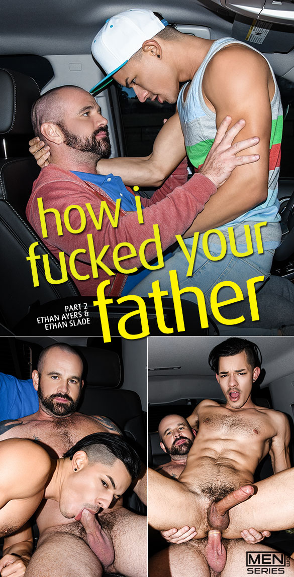 "Men.com: Ethan Ayers fucks Ethan Slade in ""How I Fucked Your Father, Part 2"""