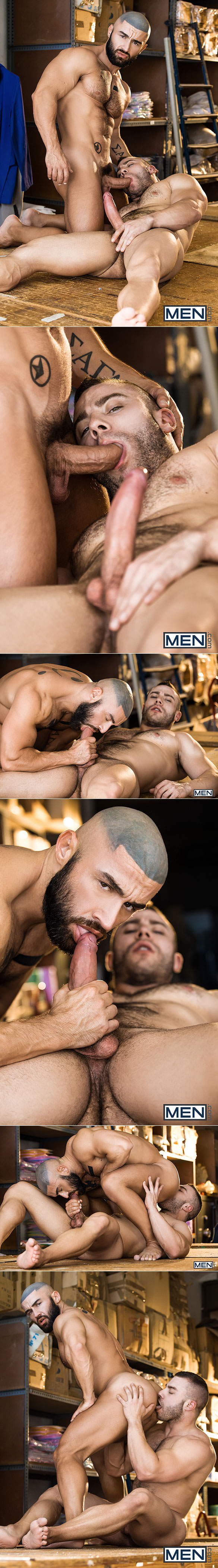 "Men.com: François Sagat rides Diego Reyes' thick cock in ""Heart's Desire"""