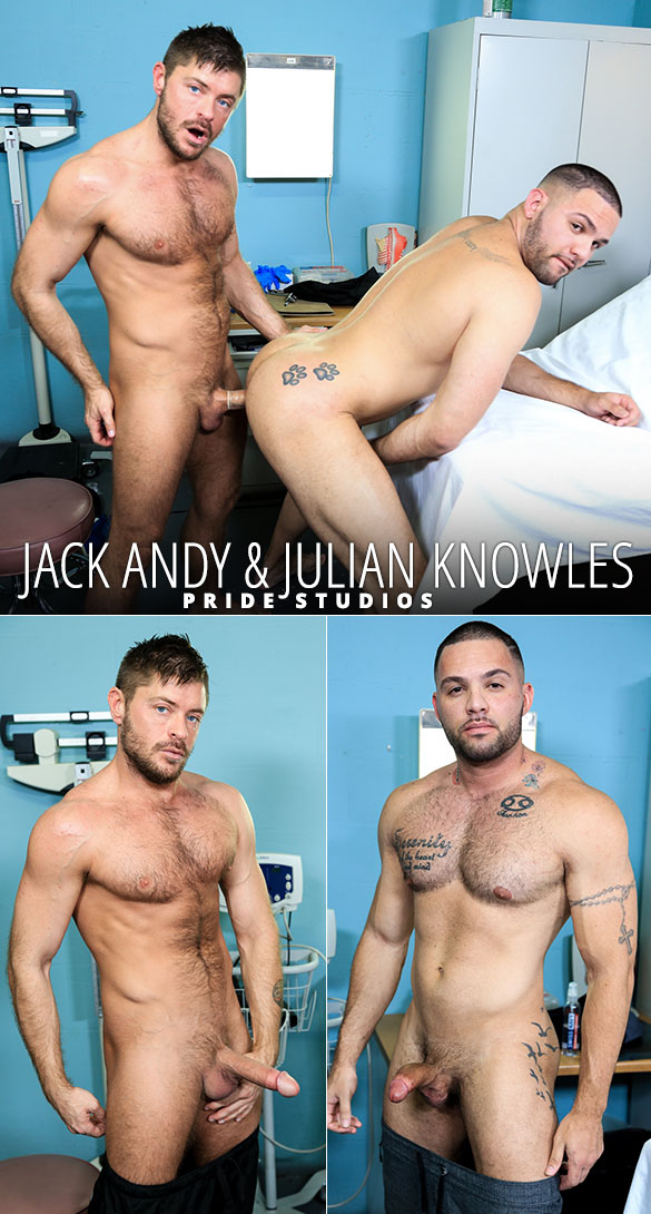 "Pride Studios: Jack Andy and Julian Knowles flip fuck in ""Muscle Tension"""