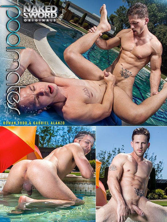 "NakedSword Originals: Roman Todd fucks Gabriel Alanzo in ""Pool Mates, Episode 1"""