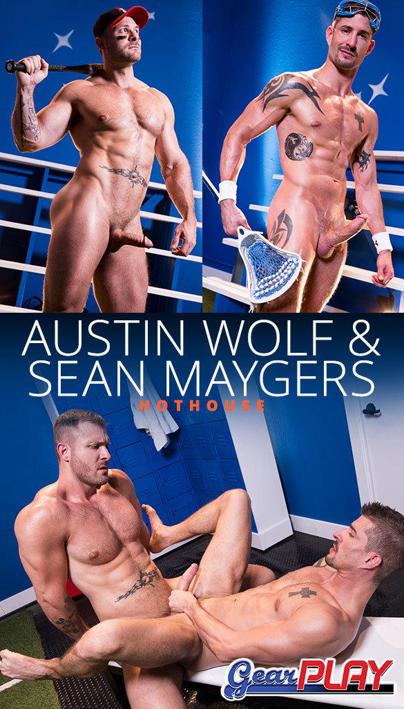 "HotHouse: Austin Wolf bangs Sean Maygers in ""Gear Play"""