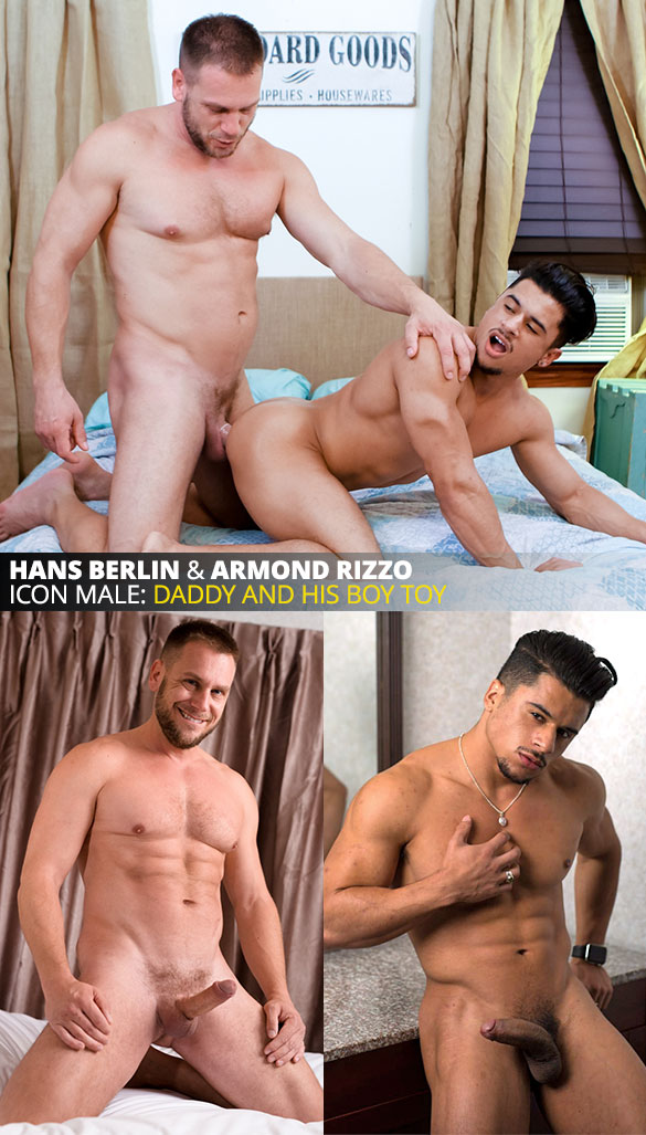 "IconMale: Armond Rizzo bottoms for muscle daddy Hans Berlin in ""Brothers 3 - Blood Brothers"""