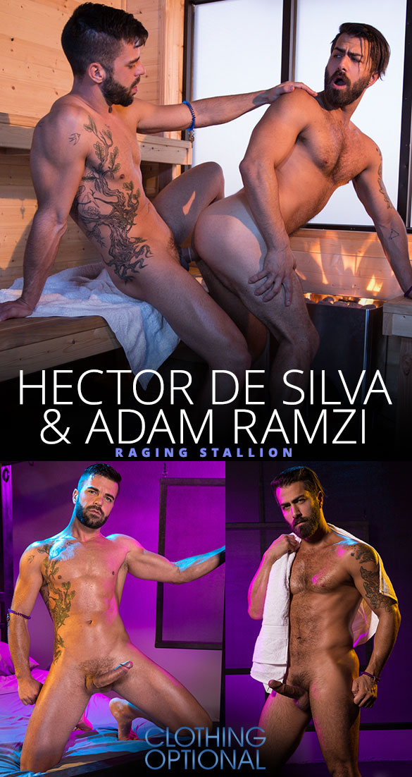 "Raging Stallion: Hector de Silva tops Adam Ramzi in ""Clothing Optional"""