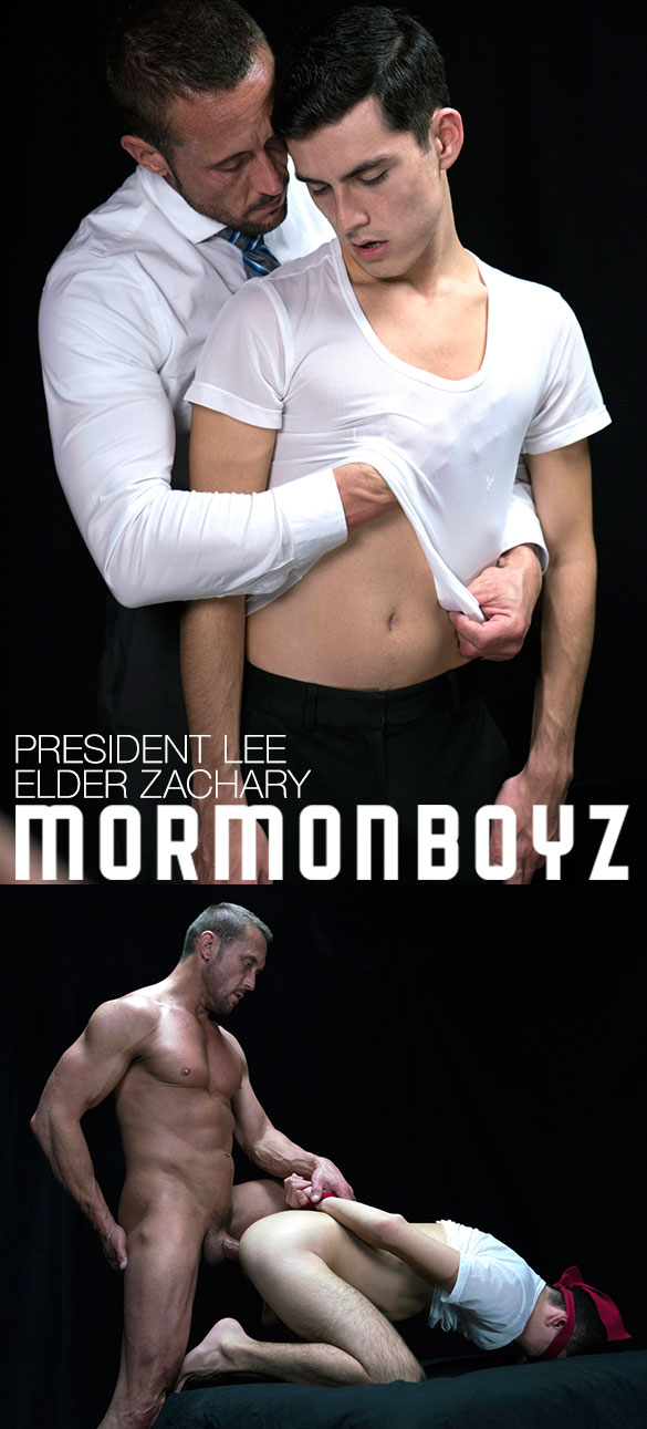 "MormonBoyz: Elder Zachary takes President Lee's thick cock raw in ""Disciplinary Action"""