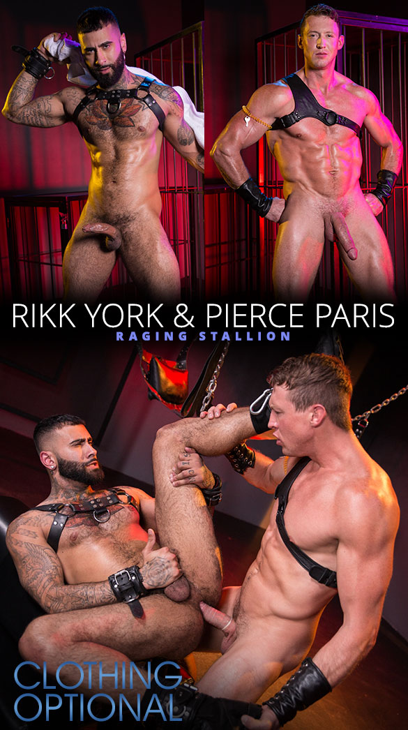 "Raging Stallion: Pierce Paris fucks Rikk York in ""Clothing Optional"""