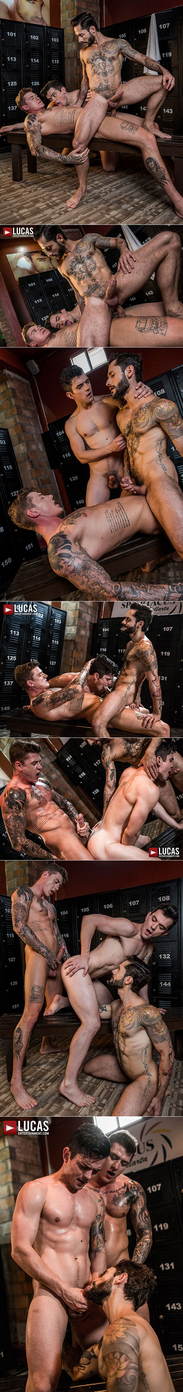 "Lucas Entertainment: Geordie Jackson bangs Dakota Payne and Rod Fogo raw in ""Daddy's Play Thing"""