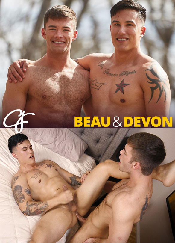 Corbin Fisher: Beau fucks Devon's virgin ass bareback
