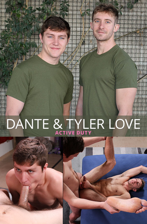 ActiveDuty: Tyler Love and Dante flip fuck bareback
