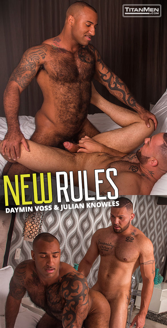 "TitanMen: Daymin Voss and Julian Knowles flip fuck in ""New Rules"""