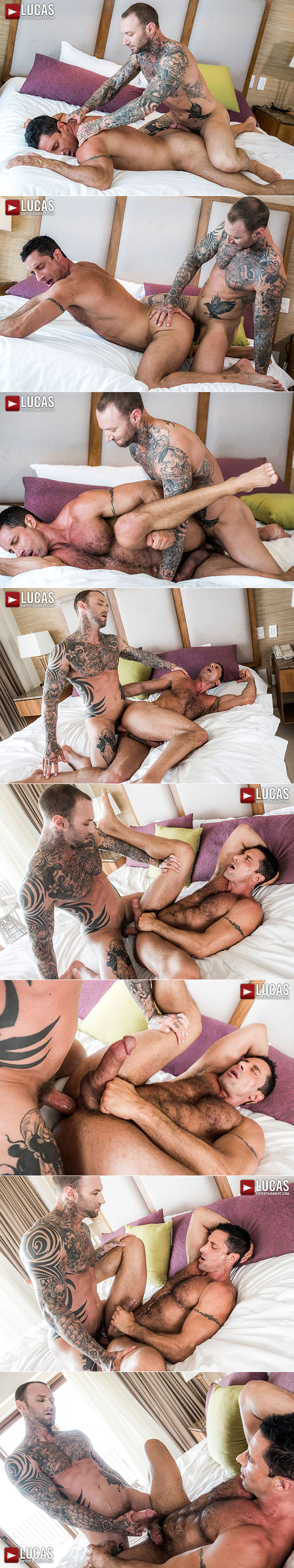 """Lucas Entertainment: Dylan James bangs muscle daddy Nick Capra in """"Bareback Auditions 10: Raw Dogged"""""""