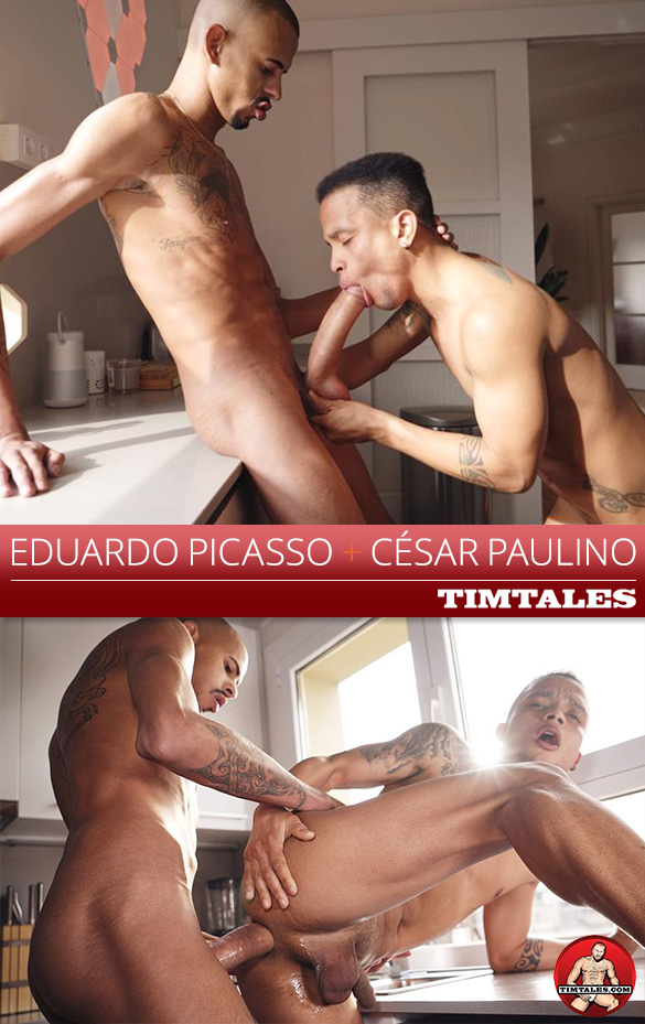 TimTales: César Paulino gets pounded by Eduardo Picasso and his 12-inch cock