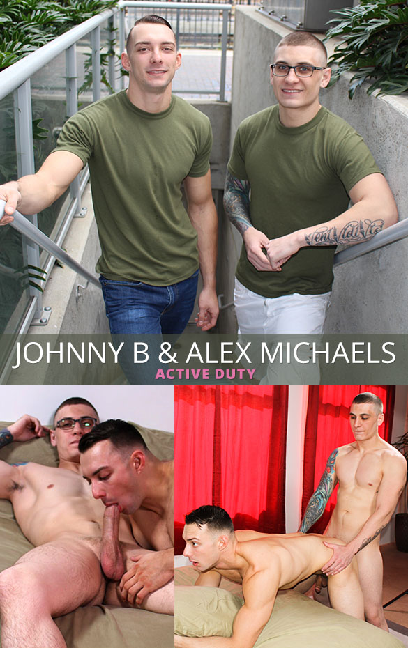 ActiveDuty: Alex Michaels barebacks Johnny B