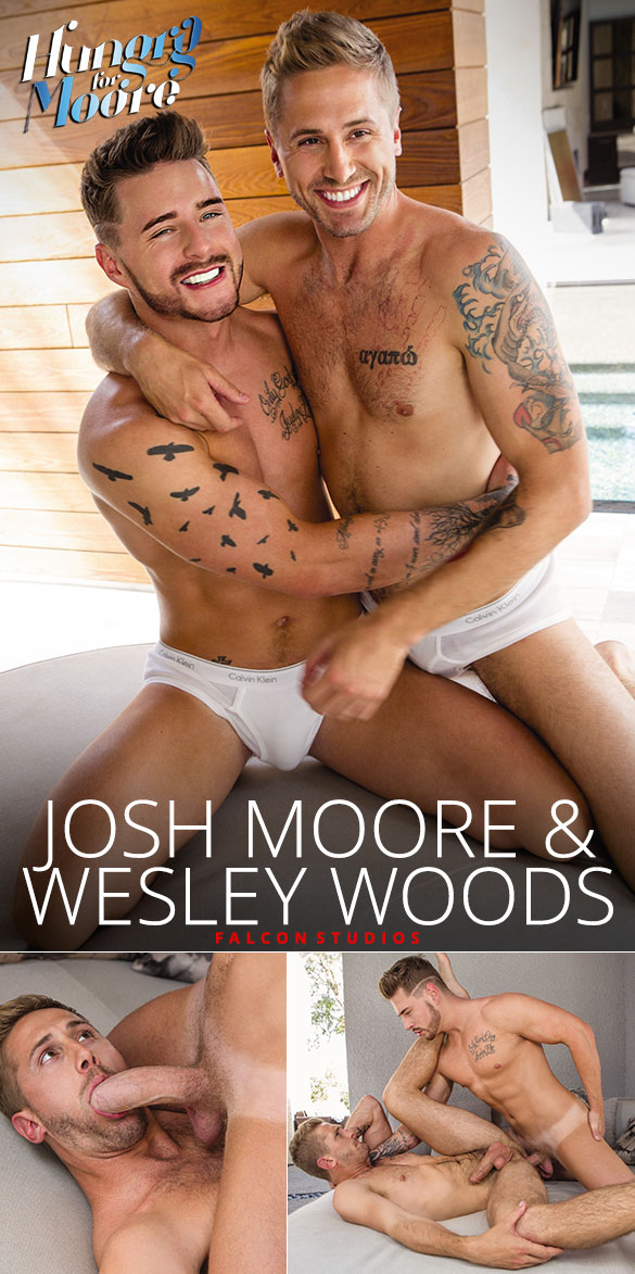 "Falcon Studios: Josh Moore fucks Wesley Woods in ""Hungry for Moore"""