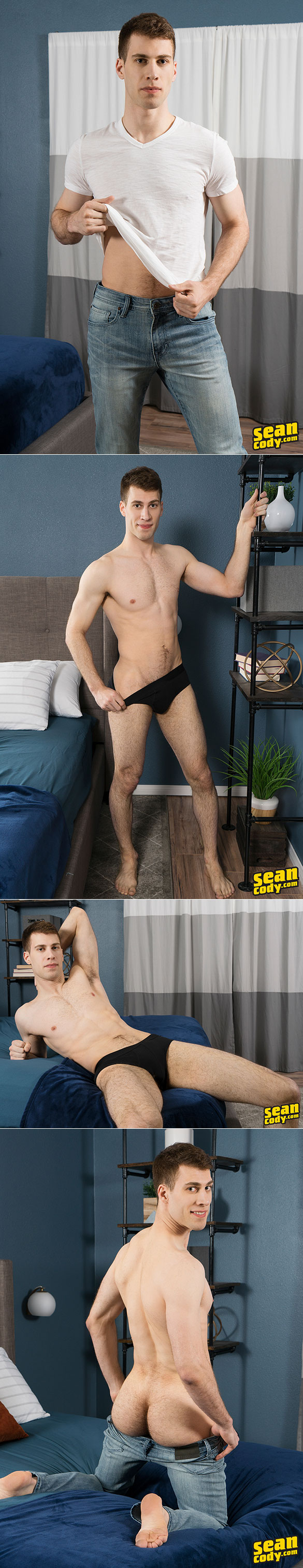 Sean Cody: Angelo shows off his big dick and busts a nut