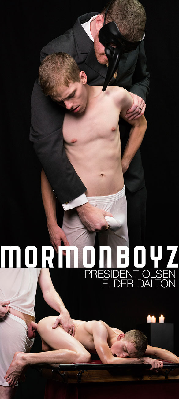 "MormonBoyz: Elder Dalton takes President Olsen's thick cock bareback in ""The Sacrament"""