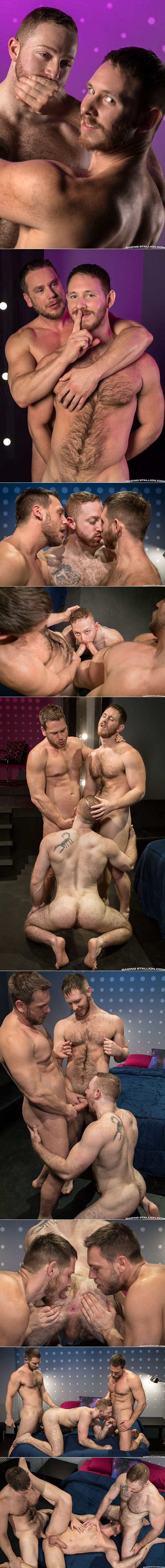"Spencer Whitman, Hans Berlin and Sean Knight's hot threesome in ""Shut Up and Fuck Me!"""