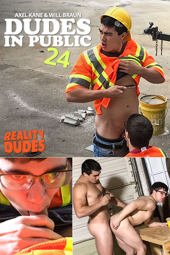 "Reality Dudes: Axel Kane fucks Will Braun in ""Dudes In Public 24 - Working Stiff"""