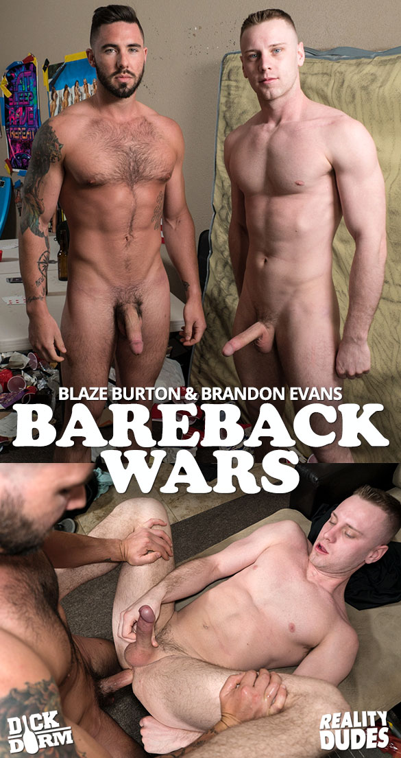 "Reality Dudes: Blaze Burton bangs Brandon Evans in ""Bareback Wars"""