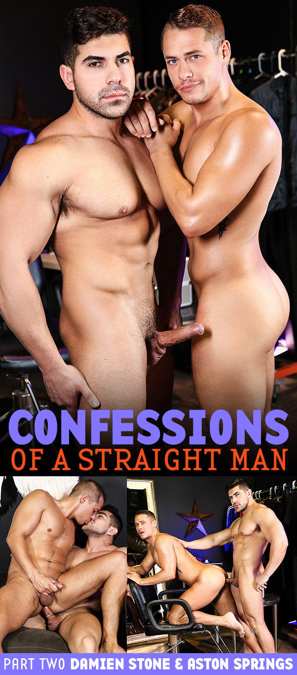 """Men.com: Damien Stone fucks Aston Springs in """"Confessions of a Straight Man, Part 2"""""""