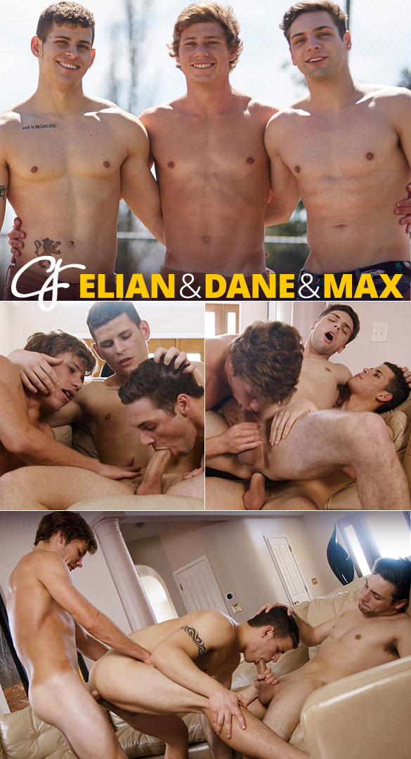 Corbin Fisher: Dane, Elian and Max's bareback threeway
