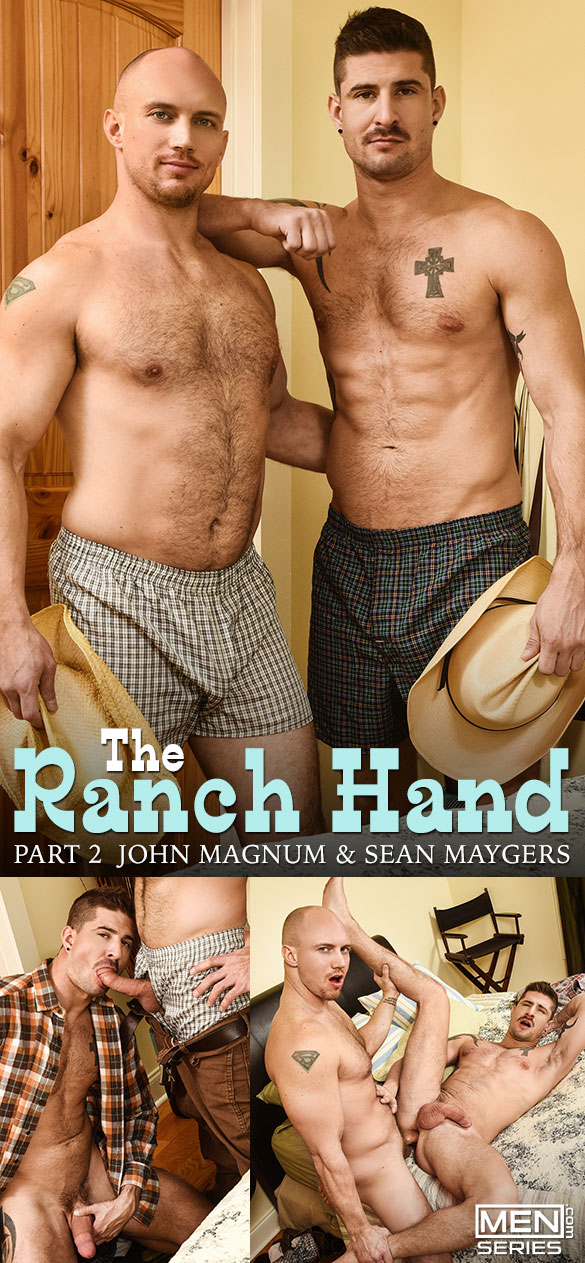 "Men.com: John Magnum bangs Sean Maygers in ""The Ranch Hand, Part 2"""