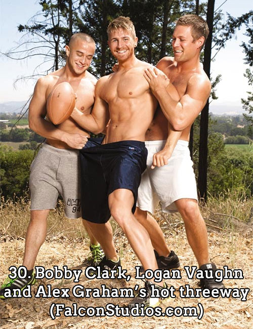 30. Bobby Clark, Logan Vaughn and Alex Graham