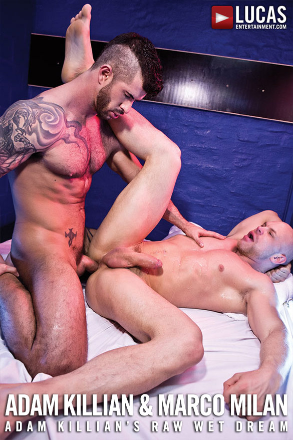 Lucas Entertainment: Adam Killian and Marco Milan fuck bareback