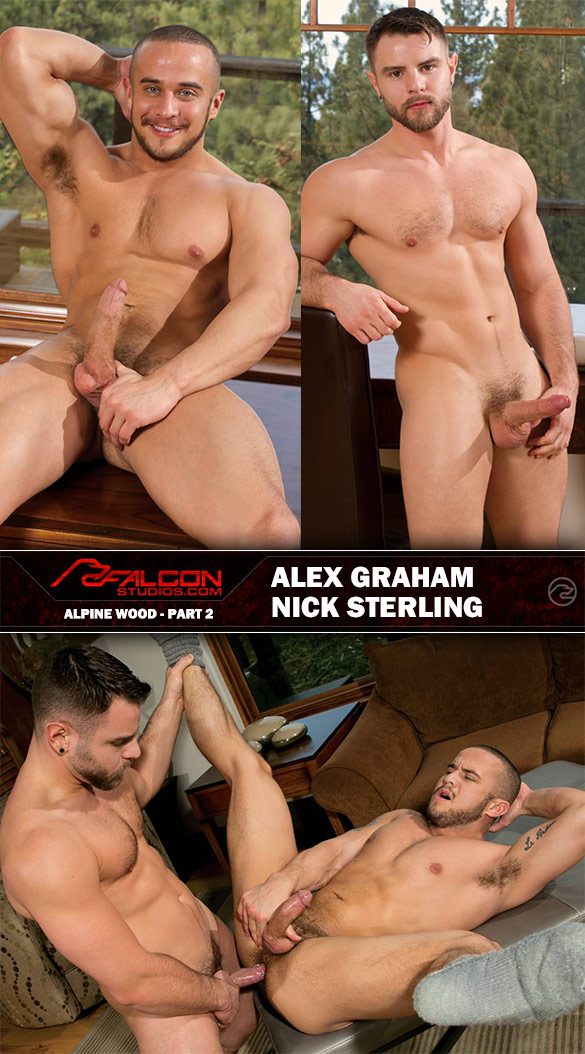 "Falcon Studios: Alex Graham and Nick Sterling fuck each other in ""Alpine Wood, Part 2"""