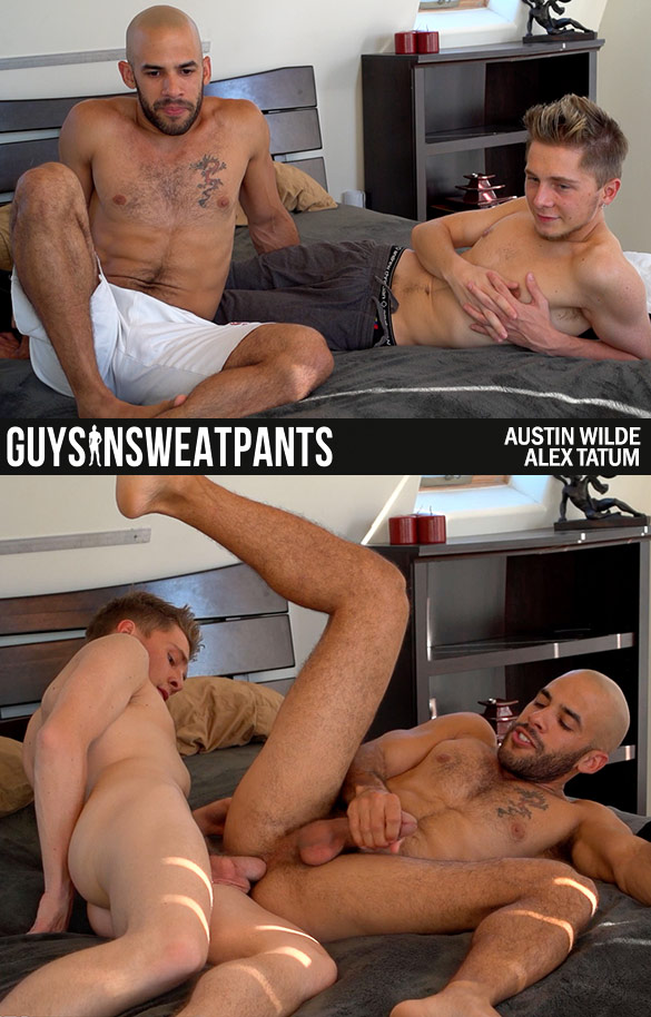 lGuysInSweatpants: Austin Wilde and Alex Tatum flip fuck bareback