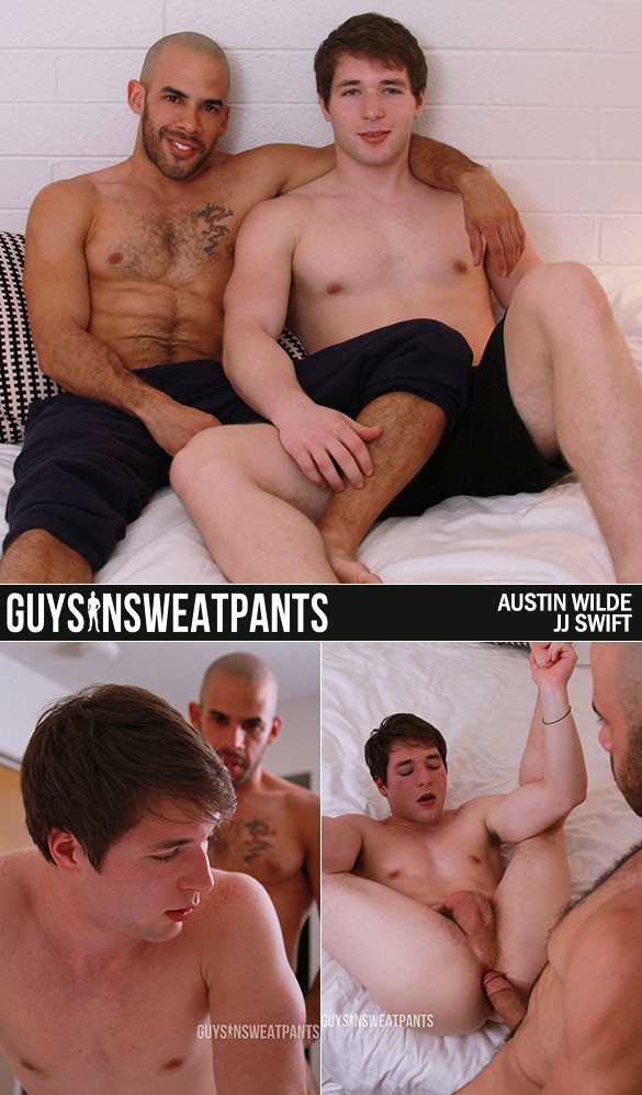 "Guys In Sweatpants: JJ Swift gets fucked by Austin Wilde in ""Lust At First Flirt"""