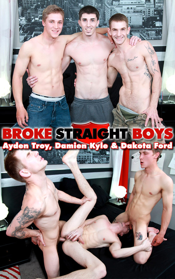 Broke Straight Boys: Ayden Troy, Damien Kyle and Dakota Ford's hot threeway