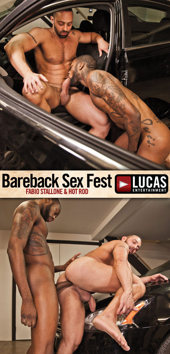"Lucas Entertainment: Hot Rod bangs Fabio Stallone ""Bareback Sex Fest"""