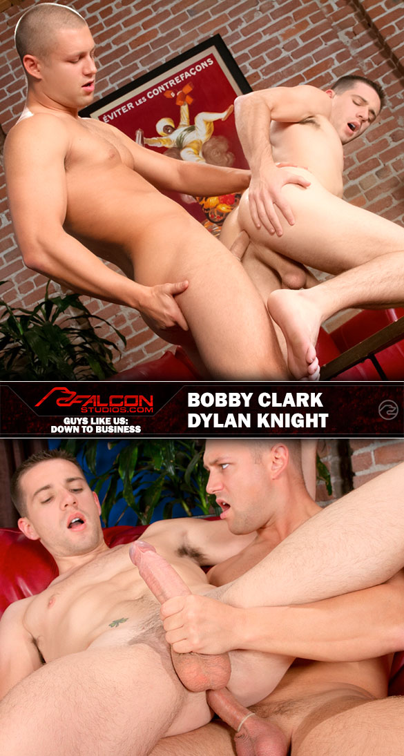 "Falcon Studios: Bobby Clark bangs Dylan Knight in ""Guys Like Us: Down To Business"""