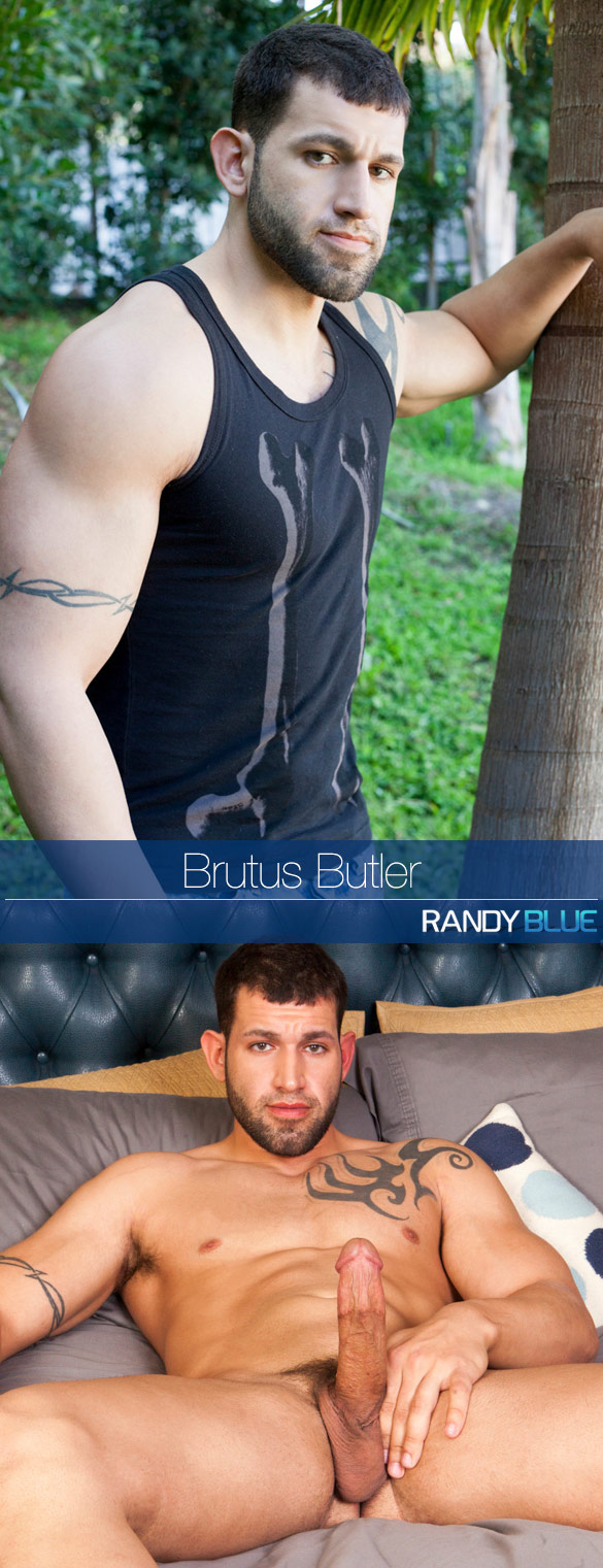 Randy Blue: Brutus Butler rubs one out