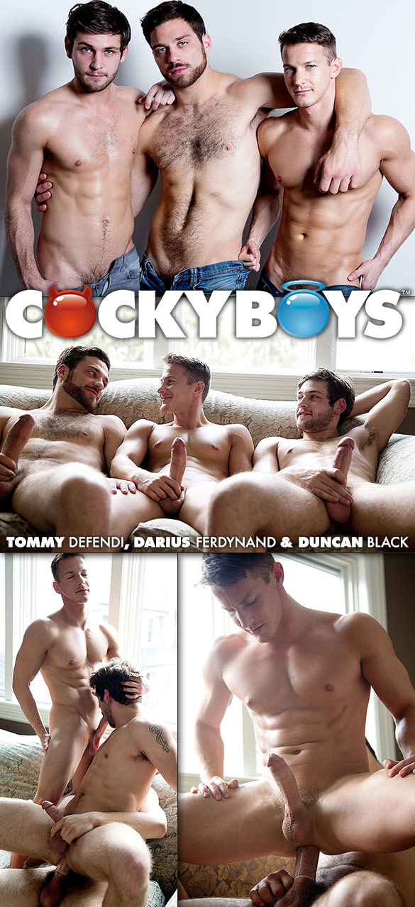 CockyBoys: Tommy Defendi, Duncan Black and Darius Ferdynand's hot threeway