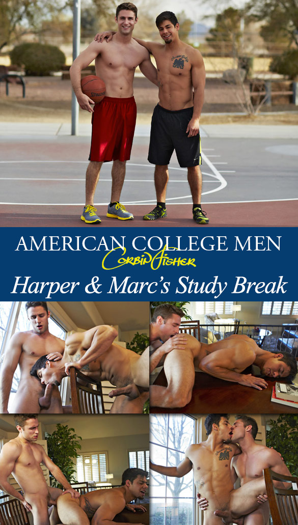Corbin Fisher: Harper creampies Marc