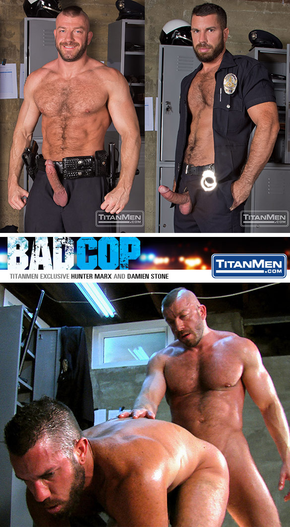 "TitanMen: Hunter Marx pound each other Damien Stone in ""Bad Cop"""