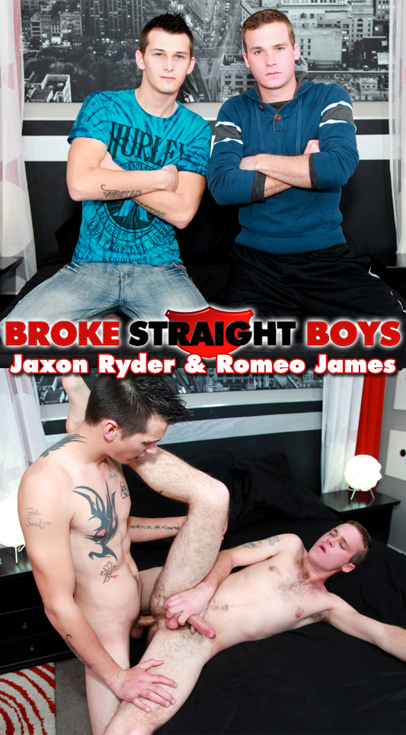 Broke Straight Boys: Jaxon Ryder fucks Romeo James raw