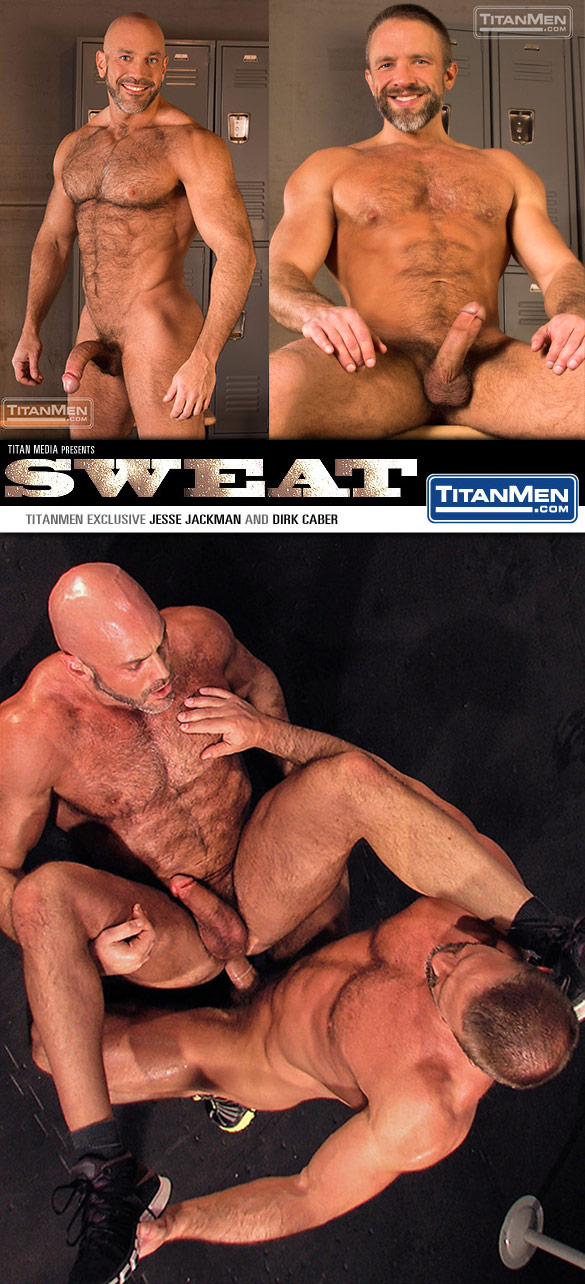 "TitanMen: Jesse Jackman gets pounded by Dirk Caber in ""Sweat"""