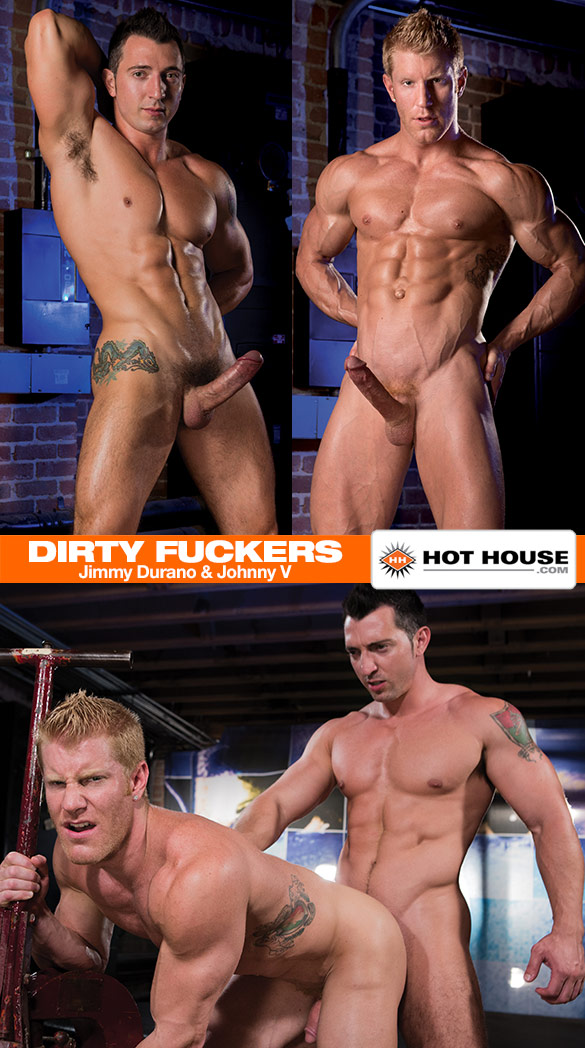 """HotHouse: Jimmy Durano pounds Johnny V in """"Dirty Fuckers"""""""